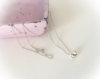 925 Sterling Silver Necklace with Pendant Necklace