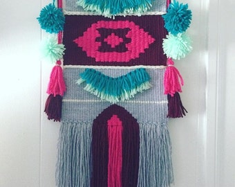 MADE TO ORDER !!! Weave wall hanging, Home decor, Wall art, Fiber art, Tapestry