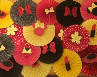 Minnie Mouse Rosettes red/yellow/black