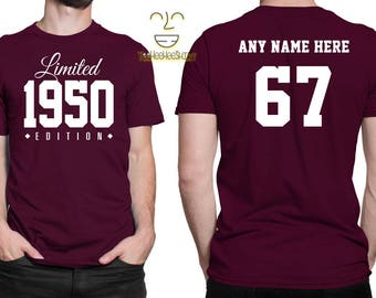 1950 Limited Edition 67th Birthday Party Shirt, 67th birthday tshirt, 67th birthday gift, 67 years old, celebrating 67 years