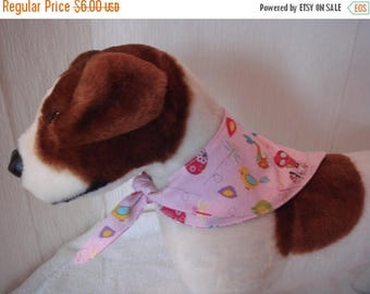 ON SALE Dog Bandana, Small Dog Bandana, Tie On Dog Bandana, Reversible