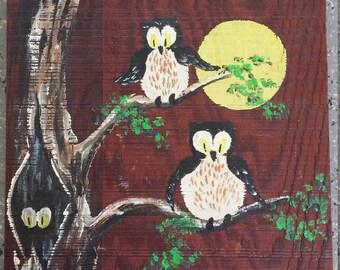 Vintage Owls Painting