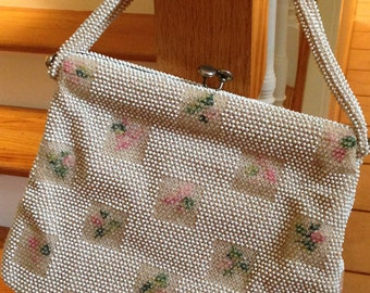 Beaded Lumured 1950's Vintage Handbag