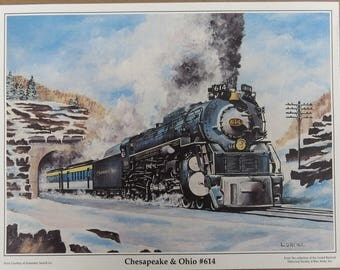 Railroad Locomotive Prints Reproduced from Original Paintings for the Automatic Switch Co.