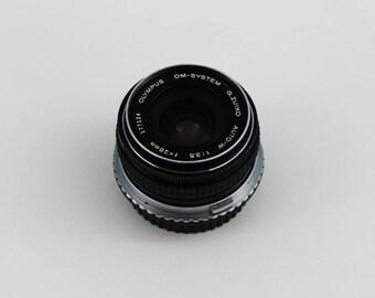 Olympus OM Zuiko Auto-W 28mm f/3.5 Manual Focus Prime Lens (including Canon SLR adapter)