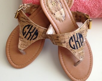 Cork Sandals - Monogrammed/Personalized