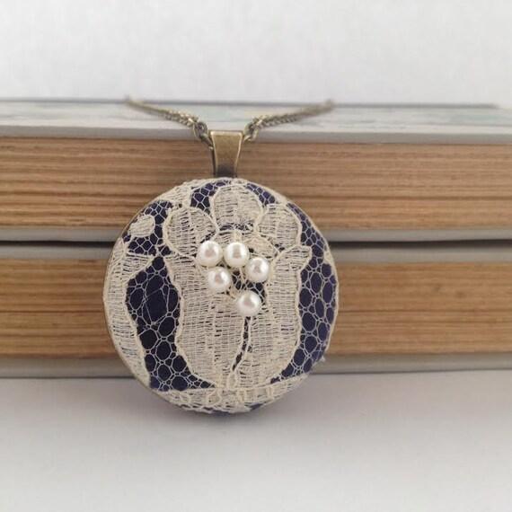 Custom Lace Necklace / Wedding Dress Lace Necklace / Memory Necklace / Sentimental Necklace / Boho Wedding Necklace / Wedding Lace Gift