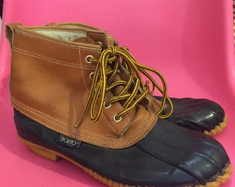 1990S // SPORTO // Size 7 Rubber Bottom Work Boot