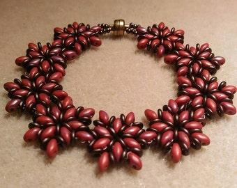 Gift for her Womens bracelet Beaded bracelet Superduo bracelet