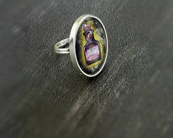 Poison bottle witch ring