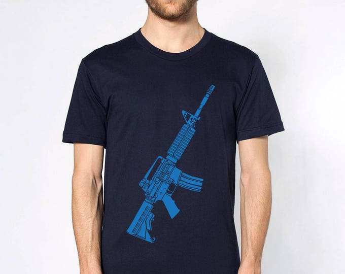 KillerBeeMoto: Limited Release M4 Carbine Rifle Short or Long Sleeve T-Shirt