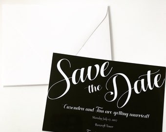 Black and White Save the Date printable