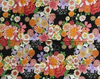Black small Furoshiki, FREE SHIPPING, japanese furoshiki, wrapping cloth, Japanese fabric, japanese tapestry, Wall Hanging, furoshiki gift
