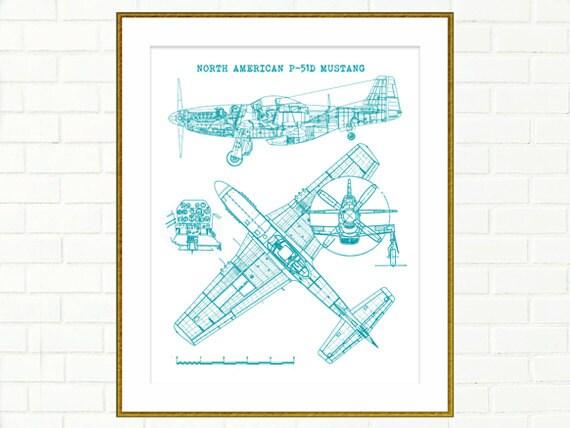 P51 mustang blueprint p51 blueprints instant download p51 mustang blueprint p51 blueprints instant download aircraft teal decor p51 mustang blueprints aviation art 8x10 11x14 malvernweather Choice Image