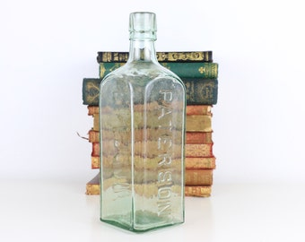 Antique Bottle 1800's Patterson Glasgow 23cm