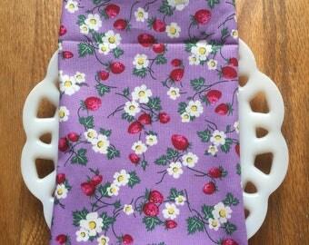 Lavender and Strawberries Cloth Napkin