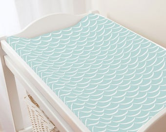 Carousel Designs Mist Waves Changing Pad Cover