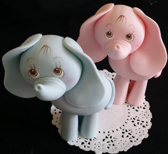 Elephant Decoration, Jungle Elephant Cake Topper, Safari Elephant, Blue And Gray Elephant, Zoo