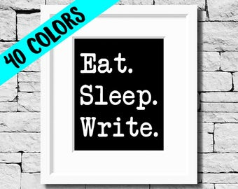 Writing Quote, Writer Print, Write Quote, Writing Print, Writer Print, Gifts for Writers, Writing Motivation, Writer Gift, Writing Quotes