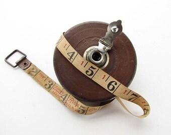 Antique Lufkin Rule Co. 50ft Tape Measure