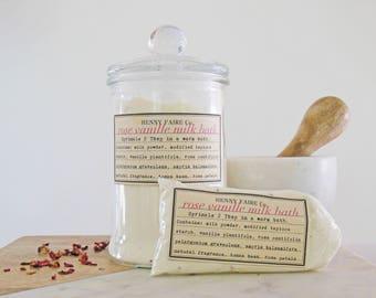 honey rose bath milk | rose milk bath with real honey | 2 to 3 baths in compostable bag