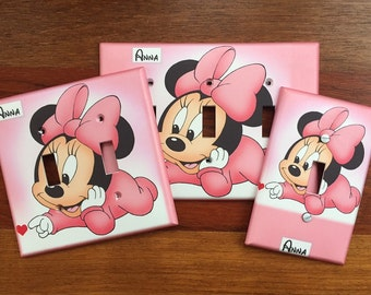 Minnie Mouse Light switch cover PERSONALIZED pink