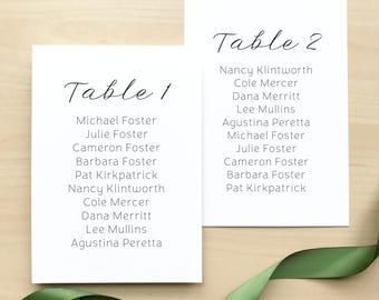 Wedding Seating Assignment Cards / Lemon Summer Citrus / #1114