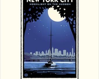 Landmark NY | New York City Moonlight by Mark Herman