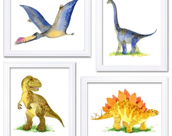 Dinosaur Wall Decor dinosaur wall art | etsy