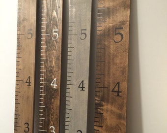"""Wooden Growth Ruler Chart 6 feet tall by 5.5"""" wide"""