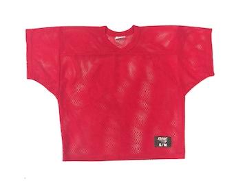 Vintage Red Mesh Jersey Top