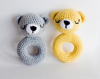 Teddy Bear crocheted rattle
