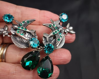 Vintage Askew of London swallow, bee and butterfly earrings sale was 75.00 now 69.00