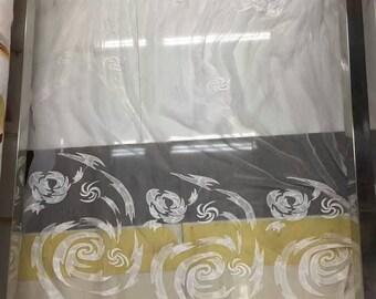 Embroidery silk fabric,crinkle silk chiffon lace fabric in off white,wedding dress fabric,Windmill lace
