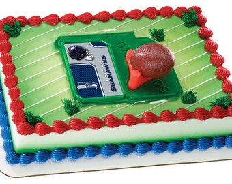 Seattle Seahawks NFL Football Cake Kit Cake Decorating Toppers
