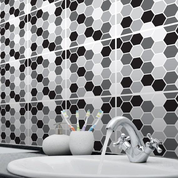 Mosaic Honeycomb Tile Stickers Transfers For Kitchen Bathroom