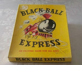 1957 Black Ball Express Game WH Schaper Co Complete Contents VGC