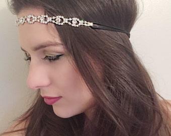 Diamante Jewel Headband/Wedding.Ref:054