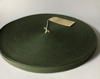 100 YARDS Vintage U.S.A. Military 5/8 inch Cotton Webbing Tape Strapping 1973 Vietnam Era Surplus
