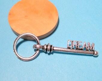 5pcs Antique Silver Large Key Charms Pendants 53mm