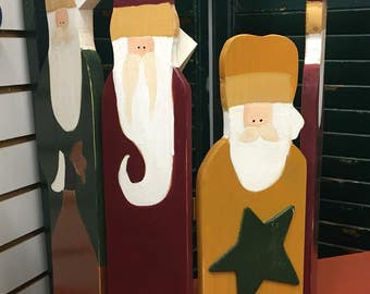 Folk Art Santa, Christmas Decoration, Santa Clause