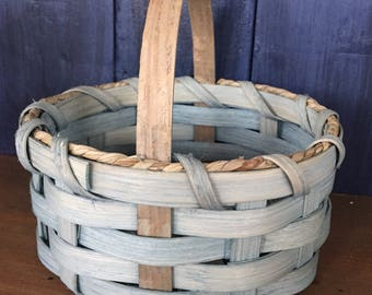 Handmade Basket, Gift Basket, Home Decor, Primitive Decor, Table Basket,Made in USA