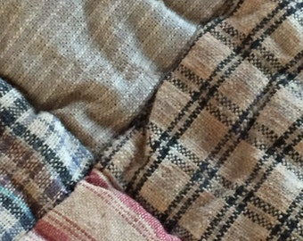 Primitive Look, Warm Lap Quilt or Wall Hanging
