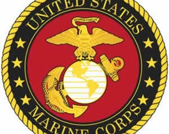 US Marine Corps cross stitch pattern, cross stitch pattern, US Marine insignia, Marine logo, Marine pattern, Marine embroidery, patriotic