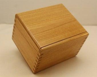 """Recipe  Box, Recipe Box 3 x 5, File Card Box 3"""" by 5"""", Alder Recipe Card Box   (rc41201E)"""