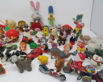 Vintage 1980's Toys- 58 pieces are included