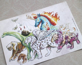 "Postcard ""strange creatures"""