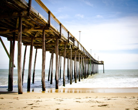 Ocean city maryland fishing pier photo greeting card beach for Maryland fishing piers