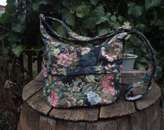 Gobelin zippered bag,shoulder bag