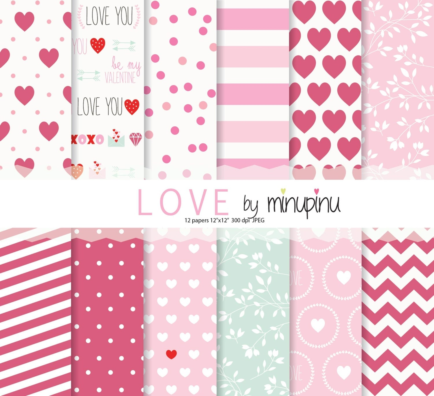 valentine digital paper love valentine 39 s day scrapbook paper pink and red love background. Black Bedroom Furniture Sets. Home Design Ideas